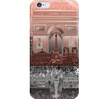 paris skyline abstract 6 iPhone Case/Skin