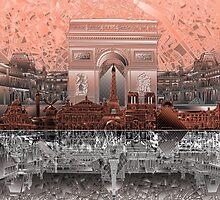 paris skyline abstract 6 by BekimART
