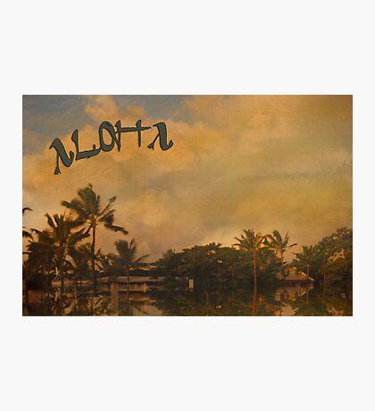 Aloha ~ Vintage Photographic Print