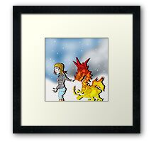 Follow my leader. Framed Print