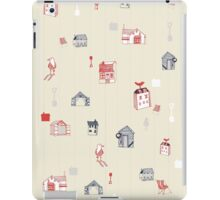 Cute objects house, bird, store iPad Case/Skin