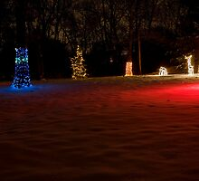 Multi-Colored Glow and Red Snow by Adam Bykowski