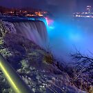 Niagara At Night by Blake Rudis