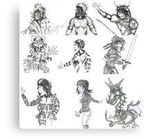 Pen work collection 1. Canvas Print