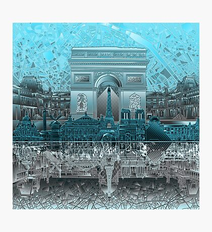 paris skyline abstract 8 Photographic Print