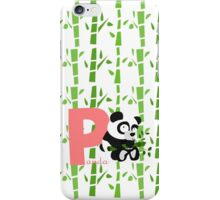 p for panda iPhone Case/Skin