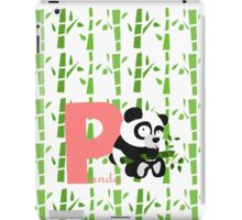p for panda iPad Case/Skin