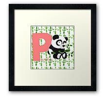 p for panda Framed Print
