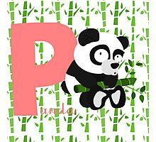 p for panda Photographic Print