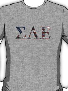 Sigma Alpha Omega American Flag T-Shirt