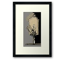 composition with rose Framed Print