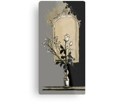 composition with rose Metal Print