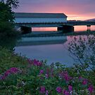 Lowell Covered Bridge at Sunset by OrPhotoJohn
