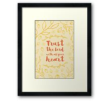 Trust in the lord - typography Framed Print