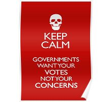 KEEP CALM - GOVERNMENTS Poster