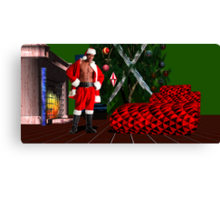 Christmas Card for the Ladies Canvas Print