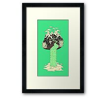 Levitating Island with a Source coming from nowhere Framed Print