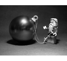 Santa Bauble  Photographic Print