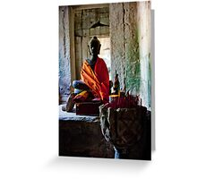 Mysterious Buddha Greeting Card