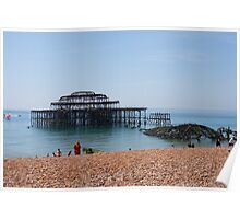The Ruins of Brighton's West Pier Poster