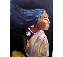 Native Amercian woman and child Photographic Print