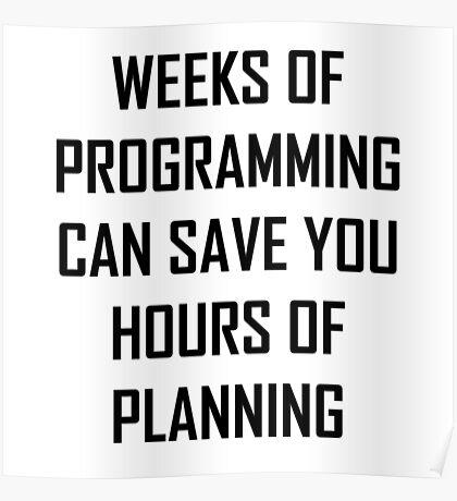 Plan your programming. Poster