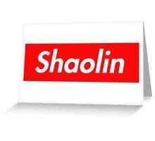 Shaolin Greeting Card