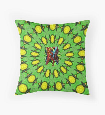 Human Butterfly Throw Pillow