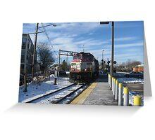 1128 MBTA Commuter Rail  Greeting Card