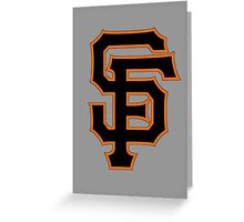 SF for SF Greeting Card
