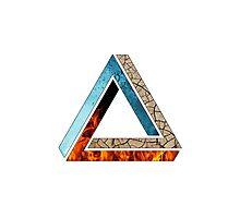 Abstract Geometry: Penrose Elements (Fire, Water, Earth) Photographic Print