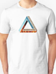 Abstract Geometry: Penrose Elements (Fire, Water, Earth) Unisex T-Shirt
