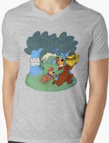Don't Feed the Bears Mens V-Neck T-Shirt
