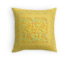 Watercolor Golden Daffodils and Matching Check Gingham Throw Pillow