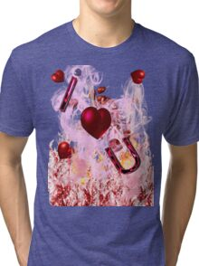i heart u graphic front Tri-blend T-Shirt