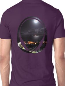 looking down at the moonlit sea Unisex T-Shirt