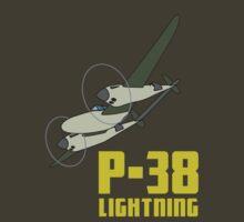 P-38 Lightning by warbirdwear