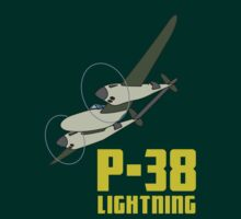 P-38 Lightning by warbirdwear