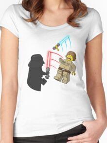 Space Brick Battles Women's Fitted Scoop T-Shirt