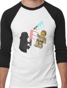 Space Brick Battles Men's Baseball ¾ T-Shirt