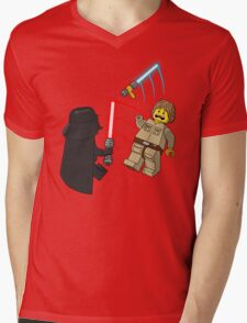 Space Brick Battles Mens V-Neck T-Shirt