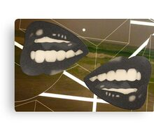 Lines and Lips Canvas Print
