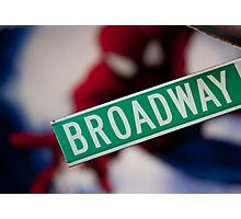 Spiderman musical on Broadway Photographic Print