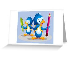 Penguins write poems Greeting Card