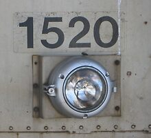Close up of 1520 Commuter Rail's no. and light by Eric Sanford