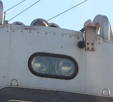 Close up of 1520 Commuter Rail's light and horn by Eric Sanford