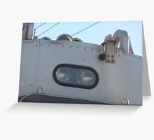 Close up of 1520 Commuter Rail's light and horn Greeting Card