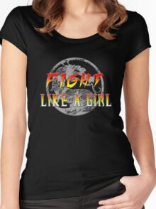 Fight like a girl...Mortal Kombat Women's Fitted Scoop T-Shirt