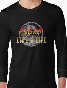 Fight like a girl...Mortal Kombat Long Sleeve T-Shirt