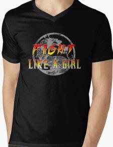 Fight like a girl...Mortal Kombat Mens V-Neck T-Shirt